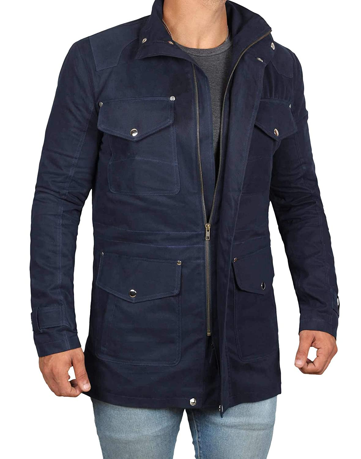 Mens Light Jacket - Military Denim