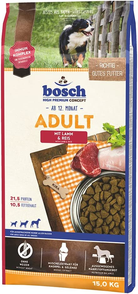bosch HPC Adult   con Cordero y Arroz   Comida seca para perros adultos de todas las razas   15 kg