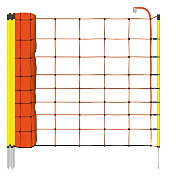 50m H:90cm Euronetz Electric Fence Netting Green Post:14 Spike:1 Sheep Pig Net