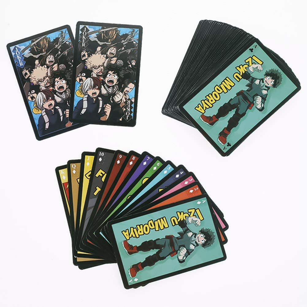 Sportstorm 54 hojas de naipes Anime My Hero Academia juego de cartas con amigos cartas de p/óker para fan/áticos