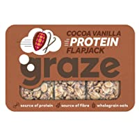 Graze Cocoa Vanilla Protein Flapjack 53g (Pack of 9)