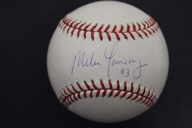 Mike Lansing Signed Baseball - Expos Rookies H - Autographed Baseballs