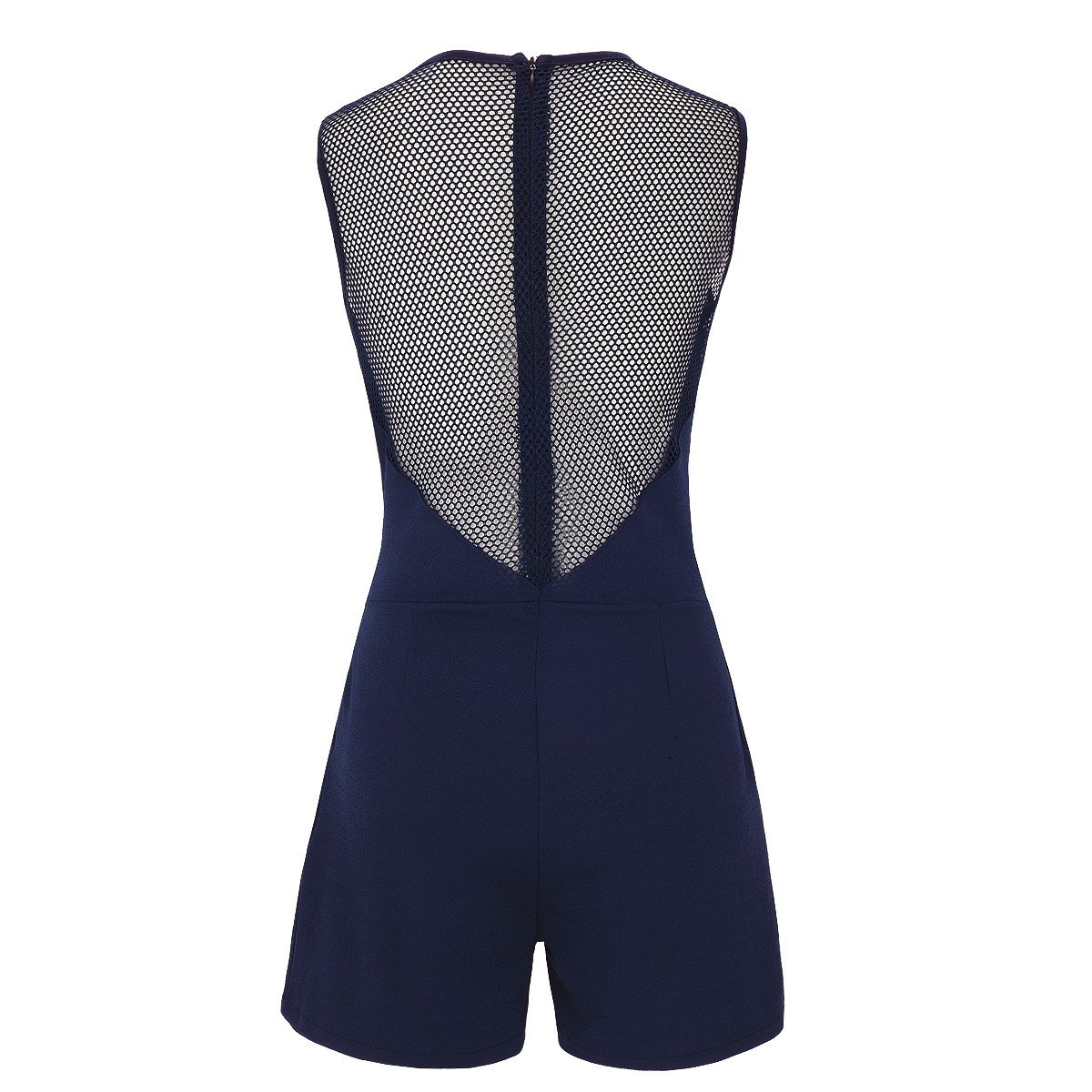 cf499cdb7c89d2 Laeticia Dreams Damen Overall Jumpsuit Catsuit Einteiler Kurz Ärmellos Netz  S M L XL: Amazon.de: Bekleidung