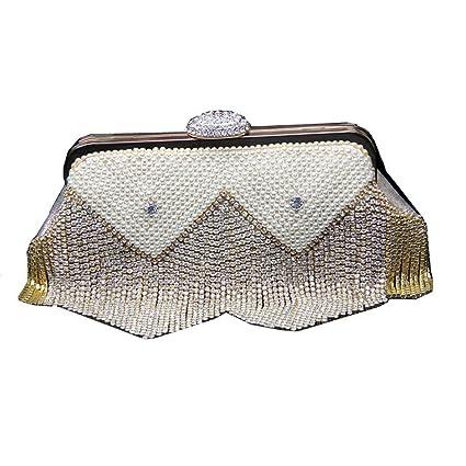 Bolso de mano monedero embrague Bolso de noche del bolso del embrague de la decoración del