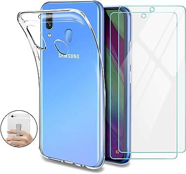 Younme Funda para Samsung Galaxy A40, Carcasa Transparente ...