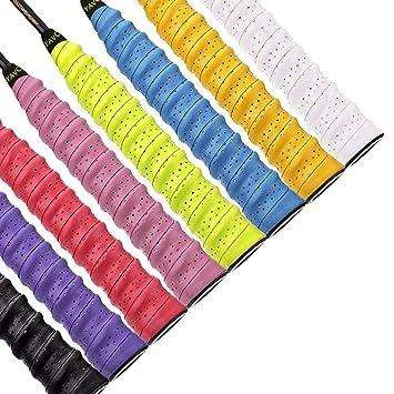 QH-Shop Mangos de Raquetas de Tennis Badminton Anti Slip Perforado Absorbente Sobregrip Grip Multicolor 8 Paquete: Amazon.es: Deportes y aire libre