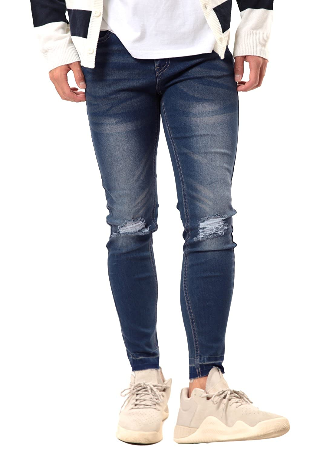b90d7e9d5a1 Top 10 wholesale Black Ripped Skinny Jeans Male. Wholesale clothing