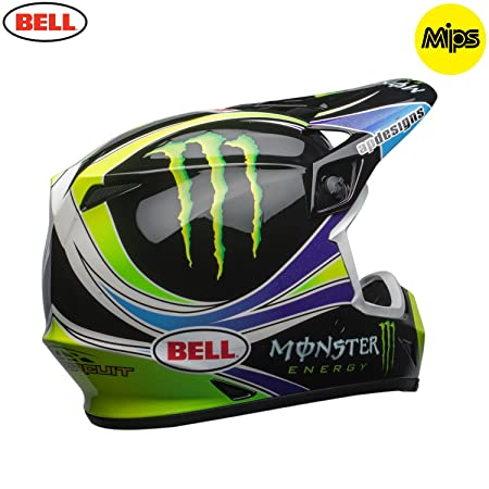 Amazon.es: 7091716 - Bell MX-9 Mips Monster Pro Circuit Replica Motocross Helmet XXL Black Green