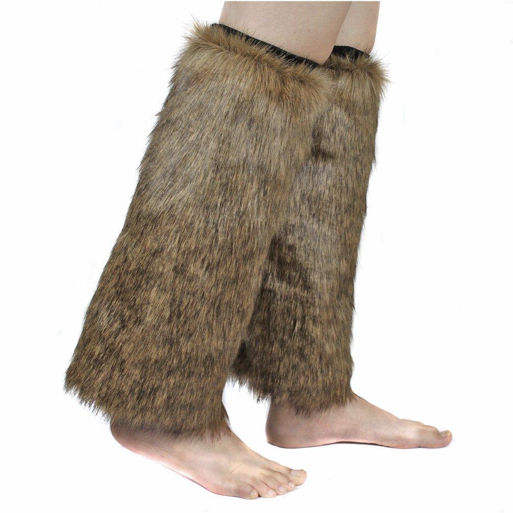 ECOSCO One Pair Women WARM SOFT COZY FUZZY Faux Fur Leg Warmer Boot Cuff Cover