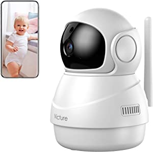 Victure Indoor Camera, 1080P Home Security Camera, Motion Detection/Tracking, Sound Detection, Two-Way Audio, Night Vision WiFi Camera for Pet/Baby/Elder