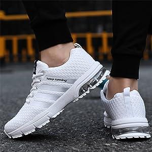 Sollomensi Zapatos para Correr en Montaña y Asfalto Aire Libre y Deportes Zapatillas de Running Padel para Hombre Deportivas EU 41 B Blanco: Amazon.es: Zapatos y complementos