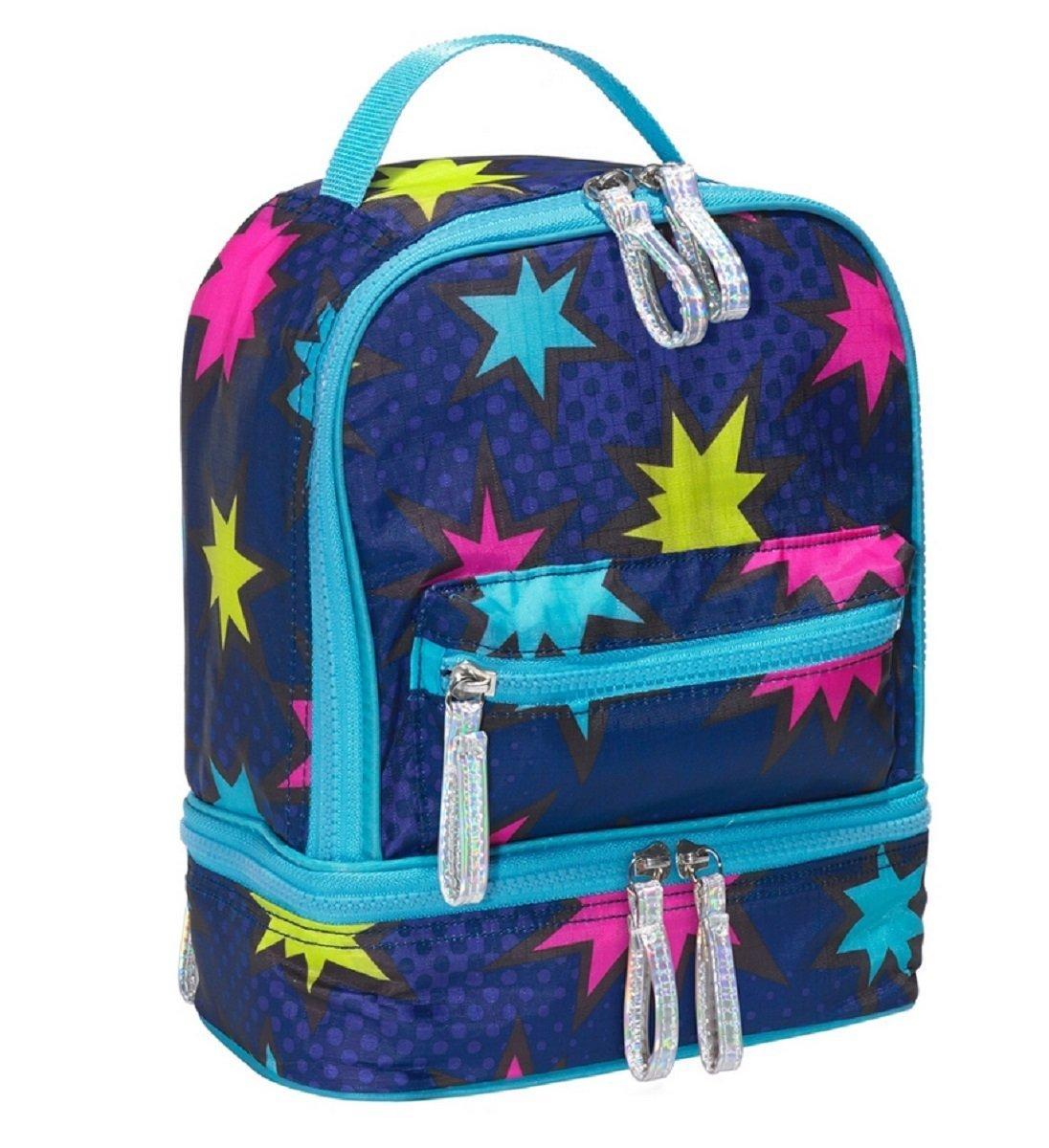 Three Cheers For Girls Blue Pop Art Lunchbox Cooler