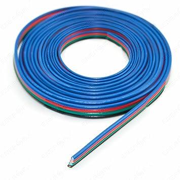 LED RGB Kabel 4-adrig Verlängerungskabel Anschlusskabel 1m: Amazon ...