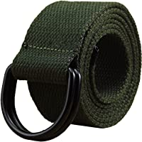 Mens & Womens Canvas Belt with D-ring