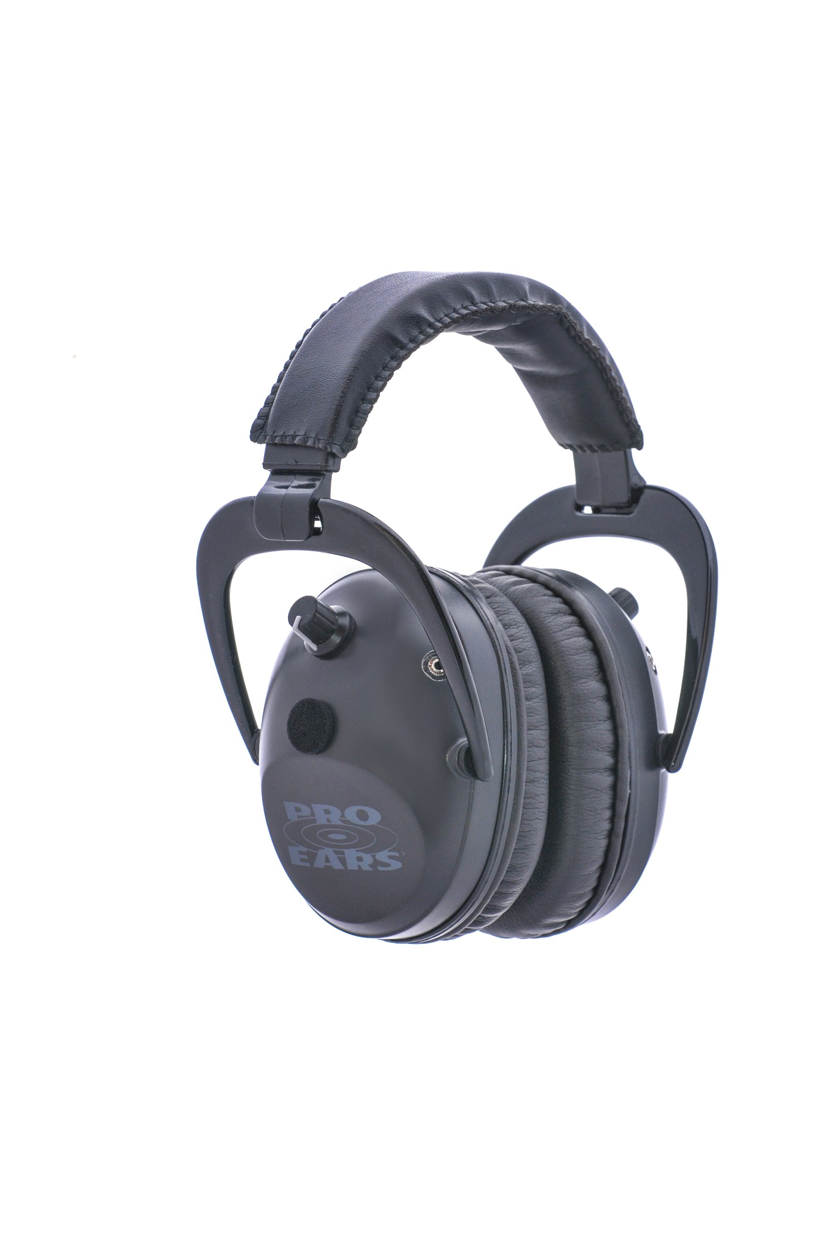 Pro Ears - Pro Tac Plus Gold - Military Grade Electronic Hearing Protection and Amplification - NRR 26 - Ear Muffs - Lithium 123a Batteries - Black by Pro Ears