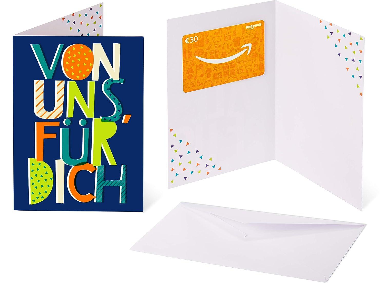 Amazon.de Geschenkkarte in Grußkarte - mit kostenloser Lieferung per Post Amazon EU S.à.r.l. Fixed