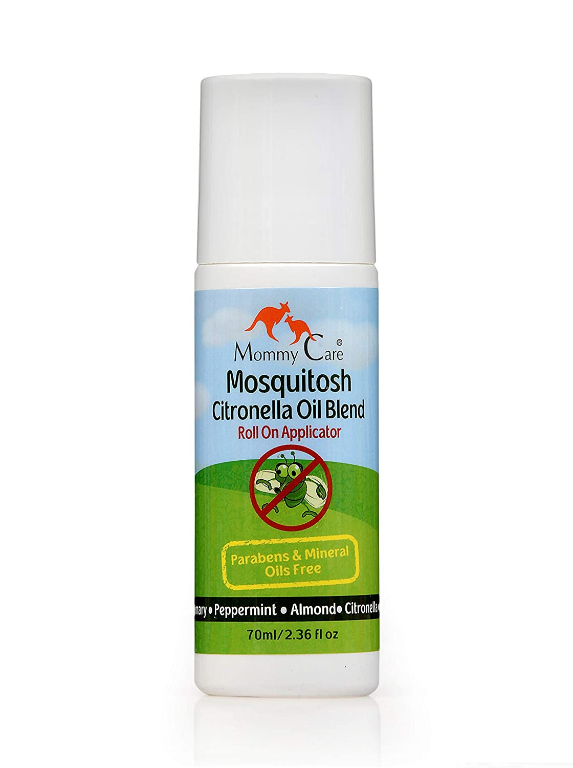 Mosquitosh Citronella Oil Mix Roll On Natural Mosquito Repellent Safe for Babies and Kids Mommy Care