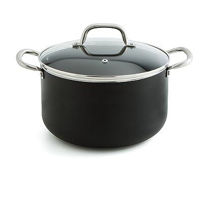 Quid Pro Chef - Olla de acero inox con tapa, 20 cm, horno e ...