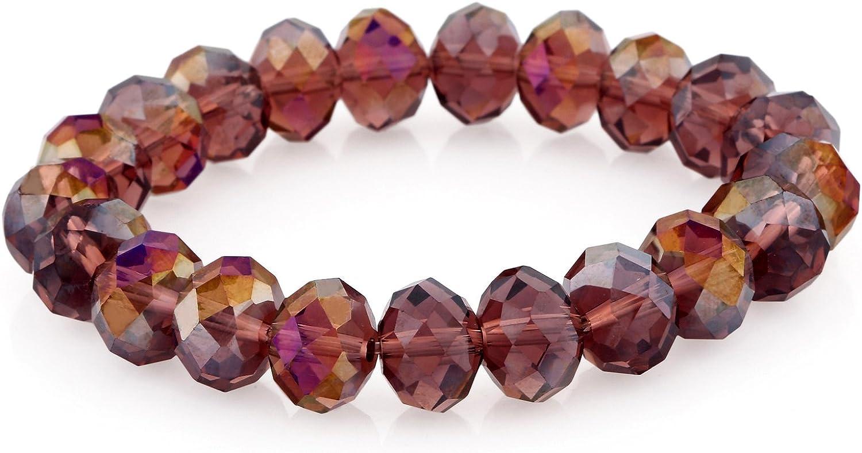 Morella Pulsera elástica con Perlas de Cristal para Damas