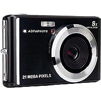 AGFA Photo - Fotocamera digitale compatta con sensore CMOS da 21 Megapixel, zoom digitale 8x e display LCD nero