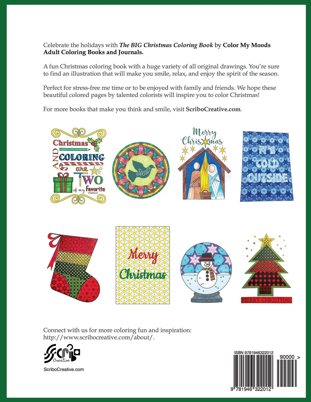Amazon The BIG Christmas Coloring Book By Color My Moods Adult Books And Journals A Festive Collection Of Drawings Including Nativity