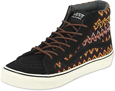 e6023511e0 Vans Sk8 Hi Slim CA Zig Zag Black Black Size  8.5 UK  Amazon.co.uk ...