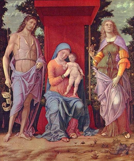 Andrea Mantegna. Madonna mit Heiligen, Szene: Maria mit