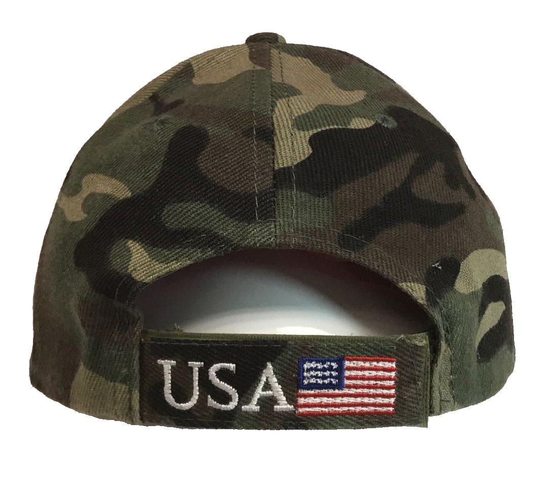 6c0fa14bc W4W Trump - Make America Great Again 3D Embroidery American Flag ...