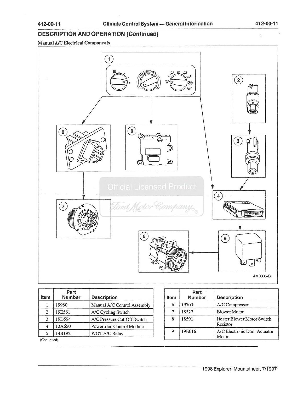 98 Explorer Blower Motor Wiring Diagram - Wiring Diagram K4