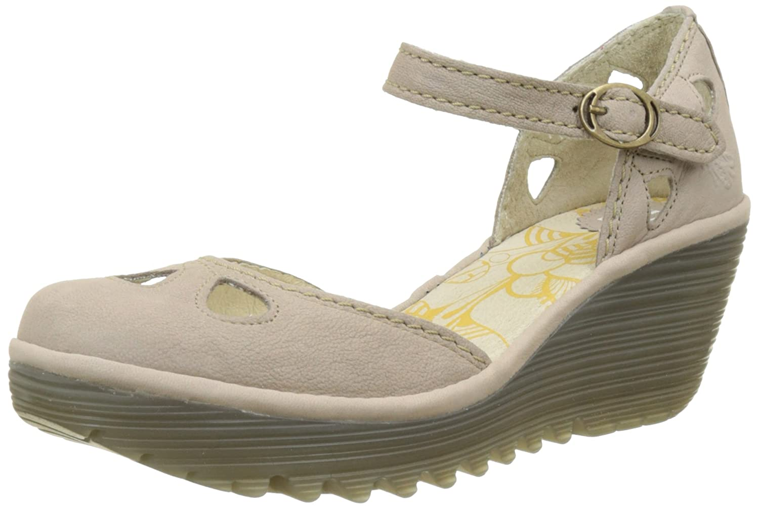 84a72157bf69d Amazon.com   Fly London Yuna Mary Jane Wedge Sandal Full Leather    Platforms & Wedges