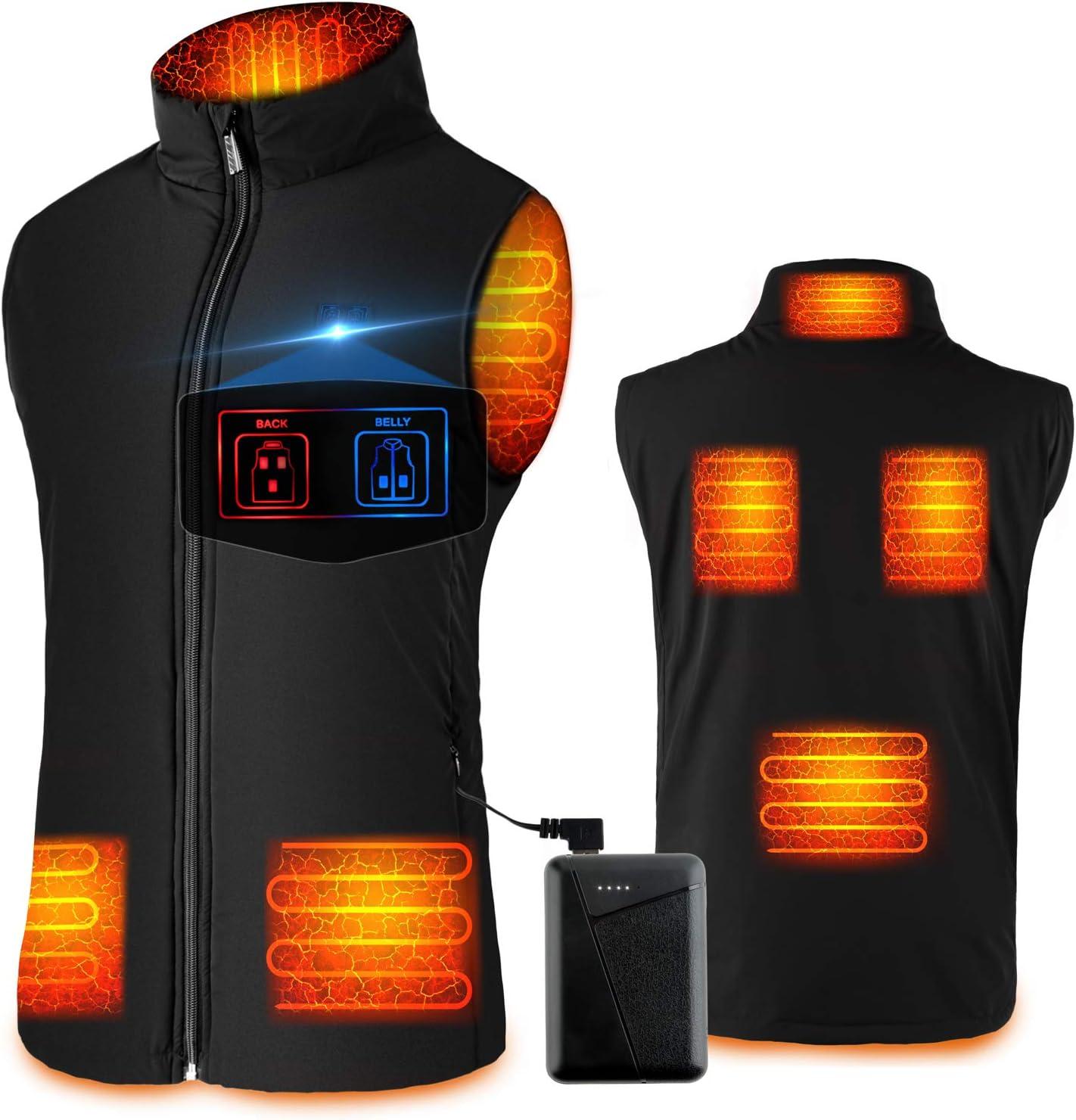 SHAALEK Gilet chauffant pour homme et femme Veste chauffante rechargeable avec batterie