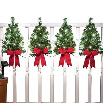solar christmas trees wall fence decor - Amazon Christmas Trees