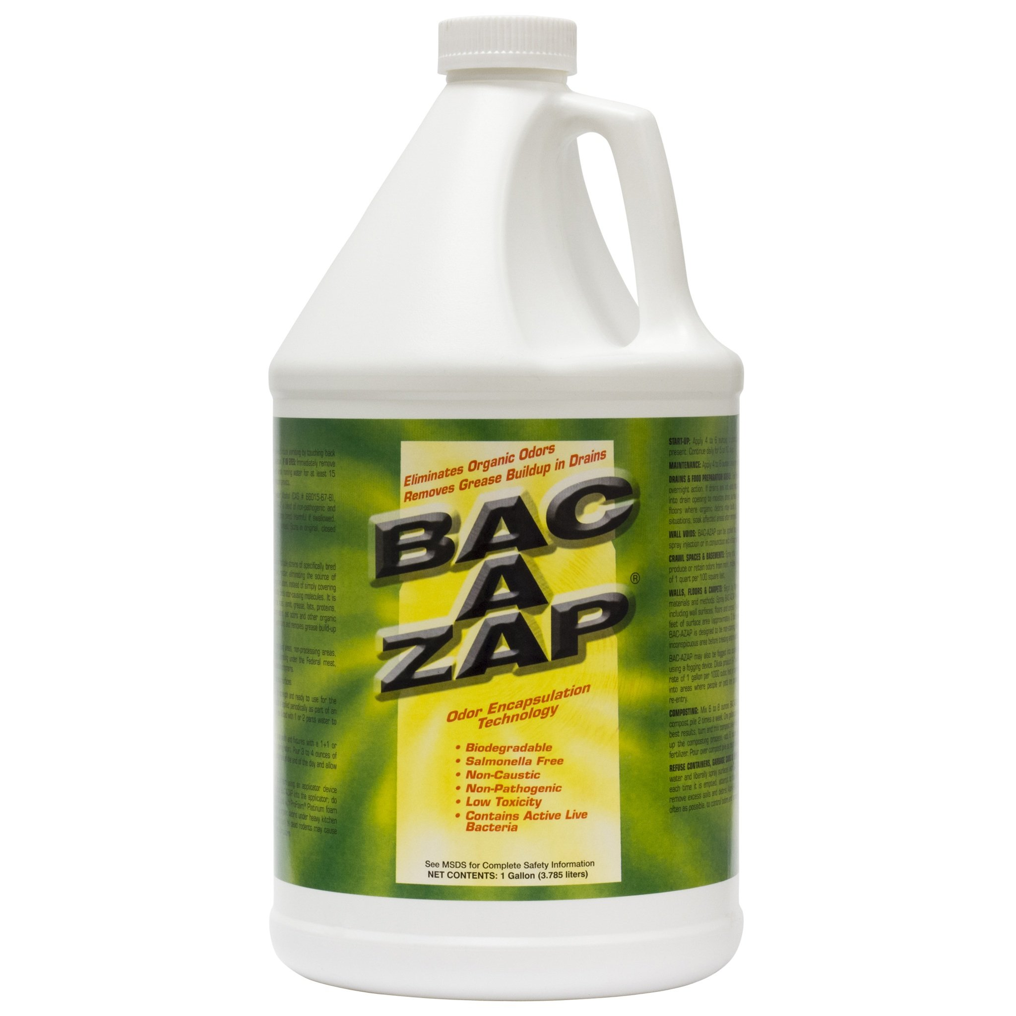 Bac-A-Zap Odor Eliminator - Gallon (1_gallon) (1-(Pack)) by Bac-A-Zap