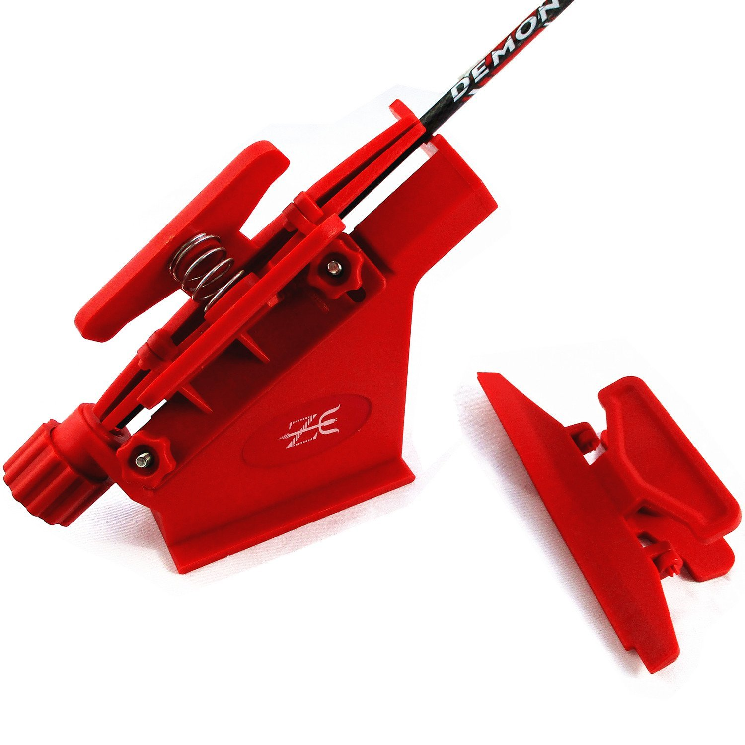 MS JUMPPER Adjustable Fletching Jig Straight and Helix Tool with Clamp for DIY Archery Arrows (Red) by MS JUMPPER