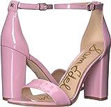 Sam Edelman Women's Yaro Ankle Strap Sandal Heel Pink Orchid Patent 9 W US