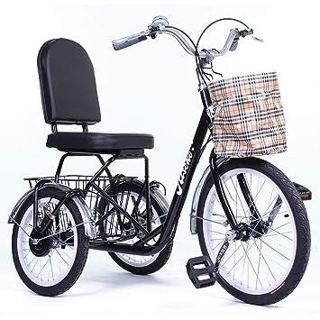 Riscko Triciclo Adulto con Dos cestas Tres Ruedas Modelo Park (Negro): Amazon.es: Deportes y aire libre