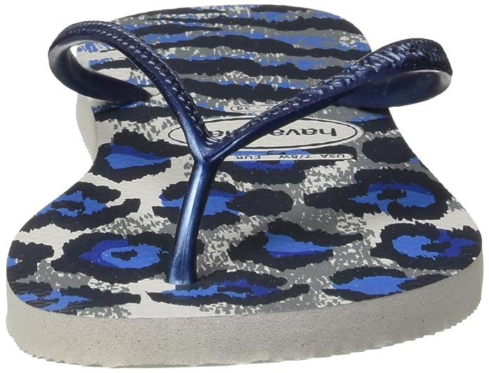a5c0c5aa2ba2 Havaianas Slim Animal Flip Flops - Ice Grey Navy Blue  Amazon.co.uk  Shoes    Bags