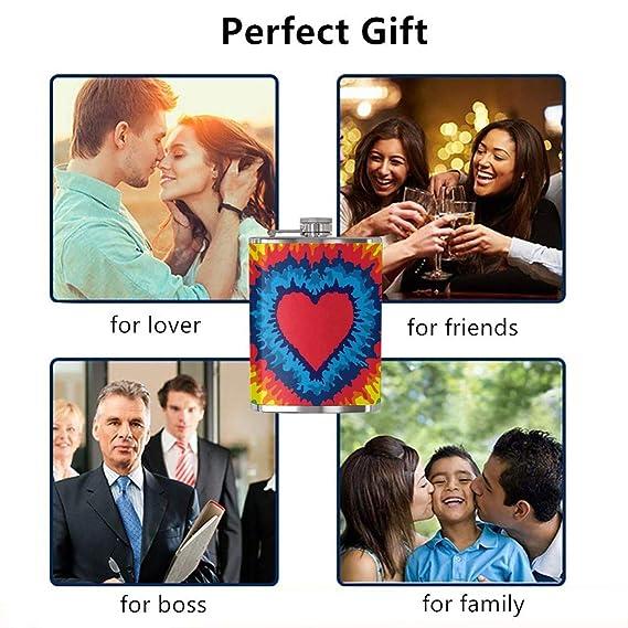 Compra Risating Petaca de Acero Inoxidable con diseño de corazón y ...