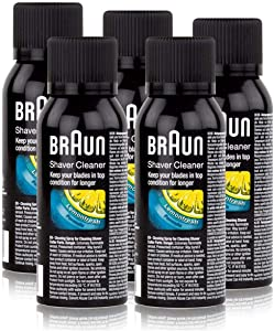 5x Braun Shaver Cleaner - Cleaning Spray Fluid For Shaver