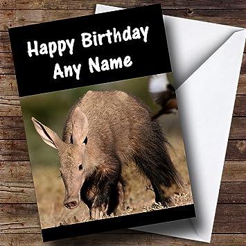 Aardvark Birthday Customised Card