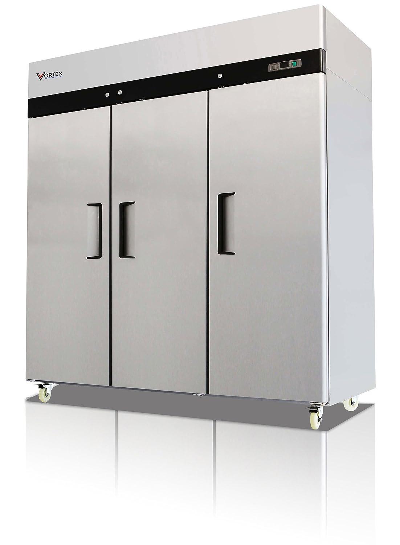 Vortex Refrigeration Commercial 3 Solid Door Refrigerator - 72 Cu. Ft. …