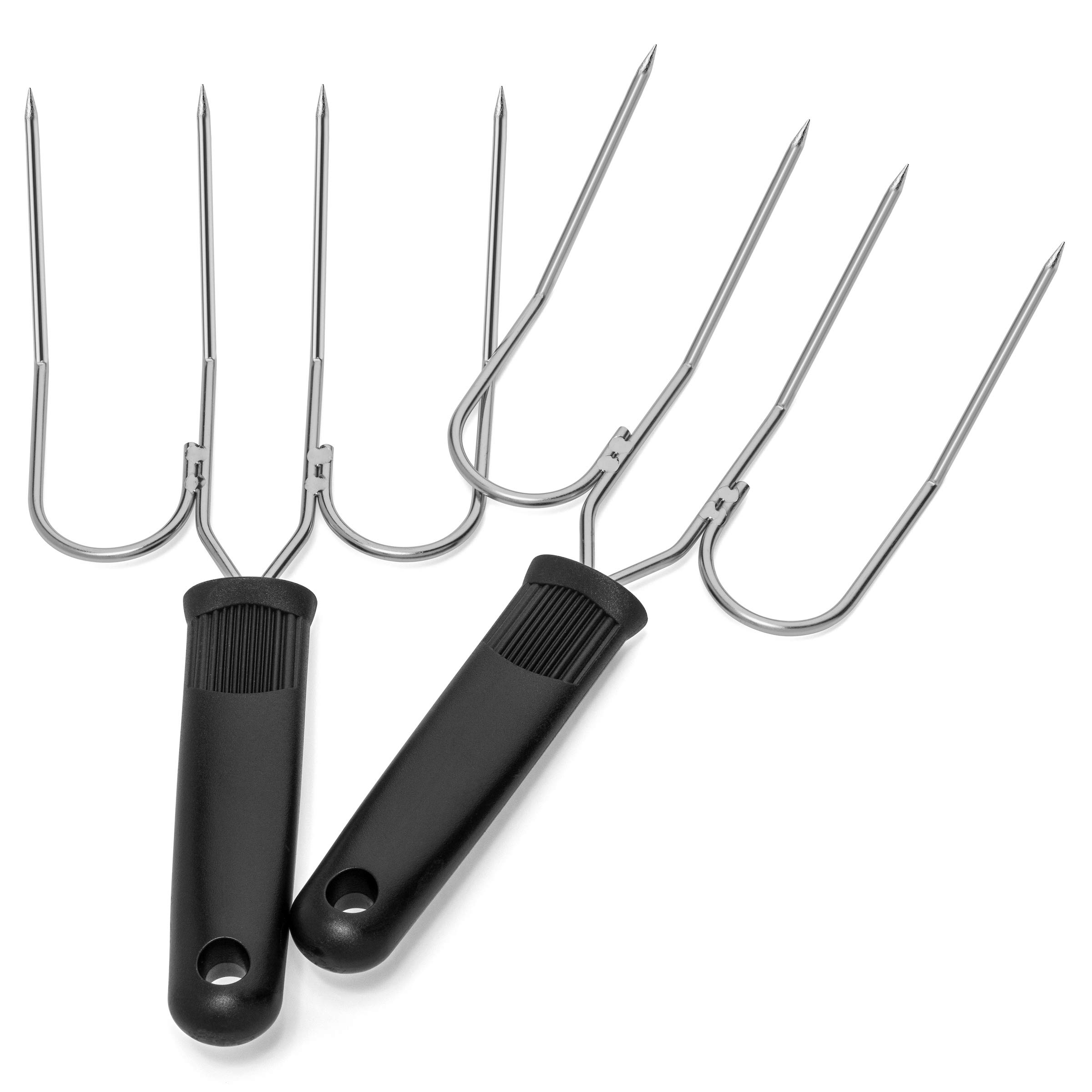 Turkey Lifter Forks - Set of 2 Stainless Steel Turkey Lifters - Will Not Bend or Break - Slip Resistant Grip - Doubles as Thanksgiving Carving Fork by Light Autumn