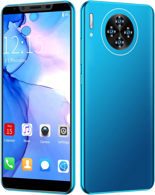 Autuncity Smartphone, M30 Plus 5.8In Dual SIM 16MP Cámara Trasera Desbloqueo de Huellas Dactilares Smartphone, 1280X2320 HD MTK6797 Potente procesador Teléfono Celular de Colores Vivos para Android