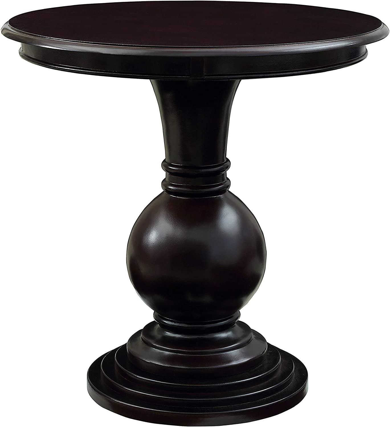 - Amazon.com: Powell Espresso Round Accent Table: Kitchen & Dining