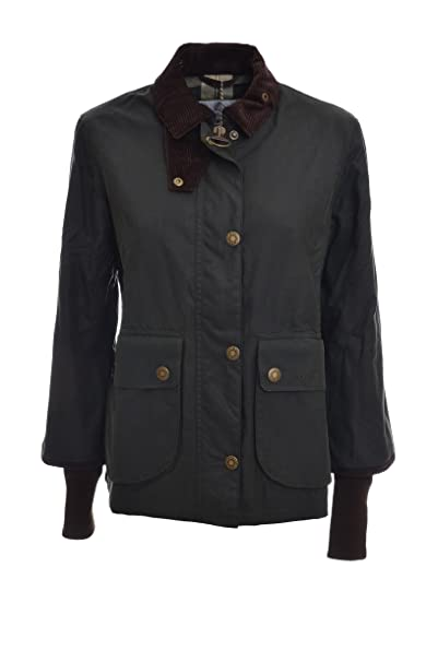 Barbour Giacca Donna LADY CROPPED BORDER BACPS1573 col. tg. 14 (46)  Amazon. it  Abbigliamento 4cdce2f87c40