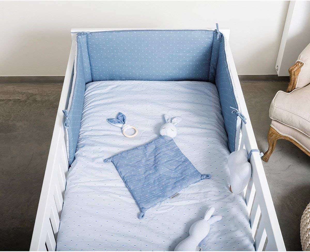 M/élodie /« La-Le-Lu /» Bleu 20 x 18 x 6,5 cm D/ès la Naissance 998284 Nattou PURE Jouet Musical Nuage 100/% coton