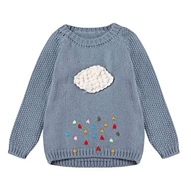 195aab009 Amazon.com  Baby Girls Knitted Sweater Toddler Girl Kids Cardigan ...