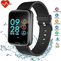 Foccoe Pulsera Inteligente,Pulsera Inteligentes Bluetooth Inteligente de Monitorización de la Salud,Contador de calorías, cronómetro, Pantalla OLED, Sistema de Seguimiento de la Actividad