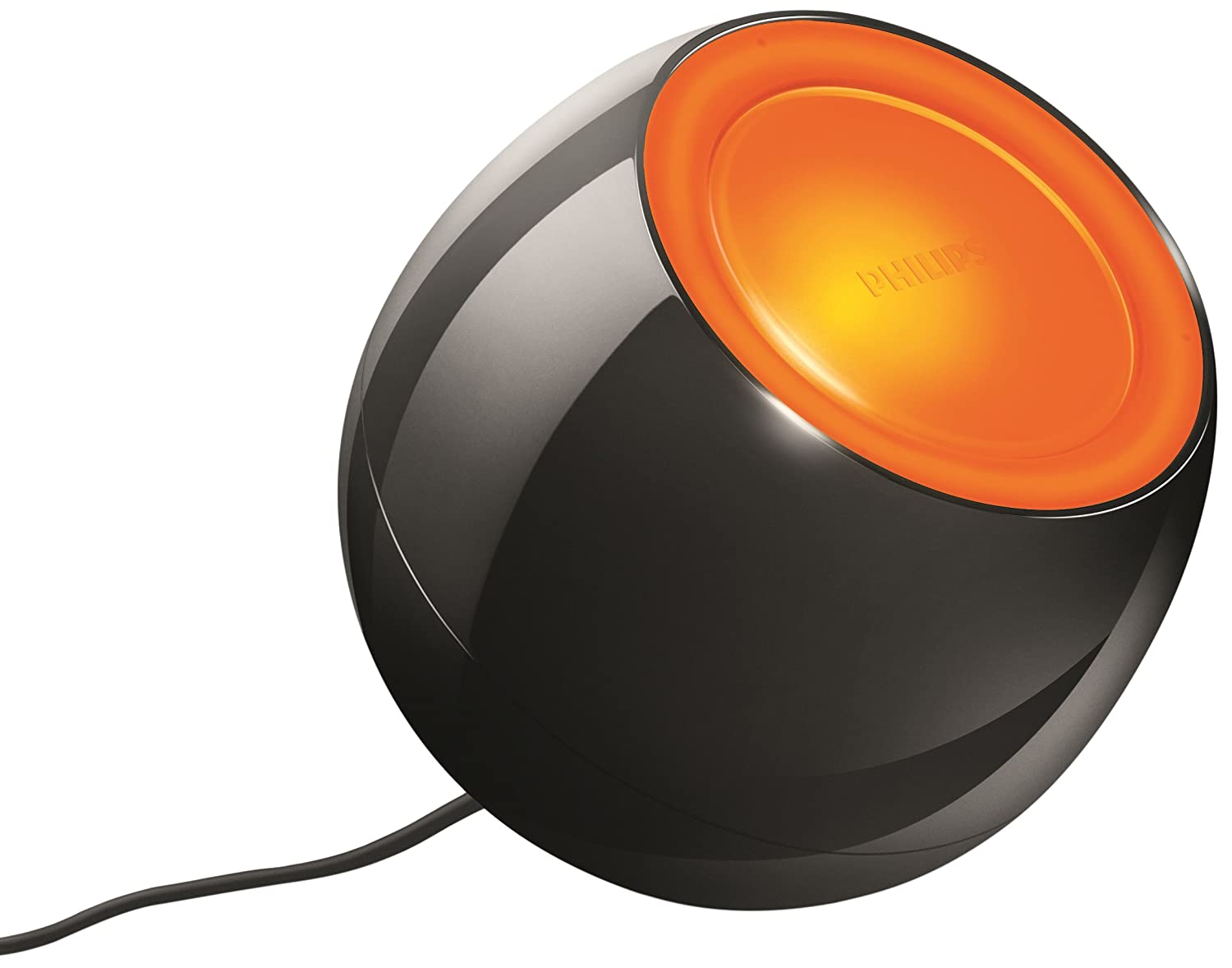 Philips livingcolors mini colour changing mood light black philips livingcolors mini colour changing mood light black integrated 1 x 5 watts led bulb amazon kitchen home parisarafo Image collections