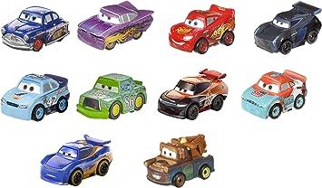 Disney Cars - Pack de 10 mini coches de carreras Juguetes niños +3 años (Mattel GKG24) , color/modelo surtido: Amazon.es: Juguetes y juegos